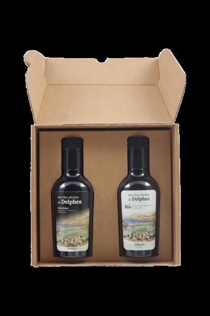 olive oil box 2 X 250 ml BIO + Natural olive oil